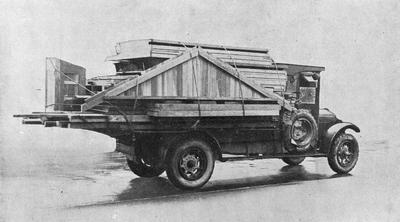 Ellis & Burnand - house sections on truck
