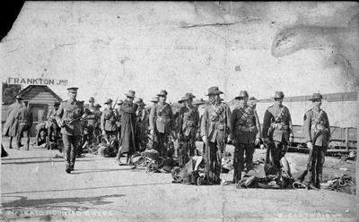 A Waikato Mounted Rifles squadron