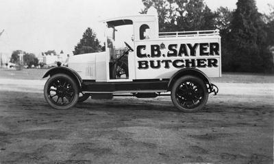 C B Sayer Butcher delivery vehicle
