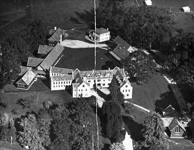 Aerial view - St Peters School, Cambridge