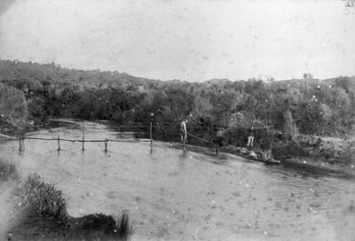 The footbridge at our camp, Te Kuiti