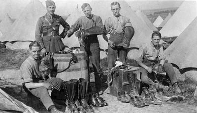 World War 1 - R.F.C. - Group of batmen