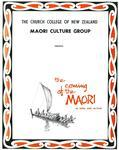 The Coming of the Maori in song and action