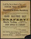 Grand half-price sale of Drapery