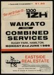 Waikato versus Combined Services