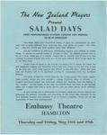 Salad Days leaflet, 1956