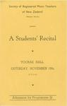 Students' Recital, 1941