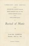 Recital of Music, 1947