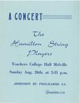 Hamilton String Players, 1962
