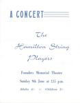 Hamilton String Players, 1963