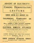 Cooking demonstration and lecture