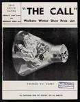 The Call. Waikato Winter Show Prize List 1963