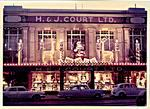 H. & J. Court Ltd store front Christmas display 1963