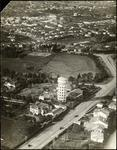 Aerial view of Frankton water tower and beyond
