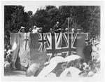 Mayor Fow at Memorial Park during visit of Sir Charles Fergusson