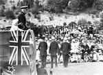 Visit of Sir Charles Fergusson at Memorial Park