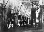 Tom Wallace senior milking at Harbutt's